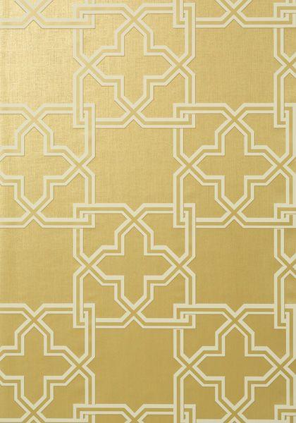 gold Pierson is a large scale 2 color interlocking trellis pattern 420x600