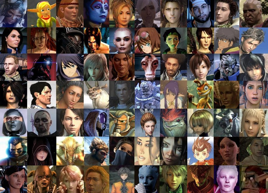 Video Game Character Collage Wallpaper Video Game Char...