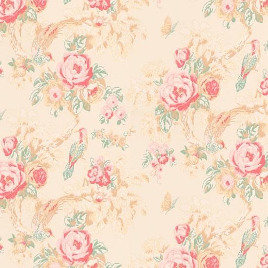 Country floral wallpaper Bird wallpapers Wallpaper Wallpaper 550x550