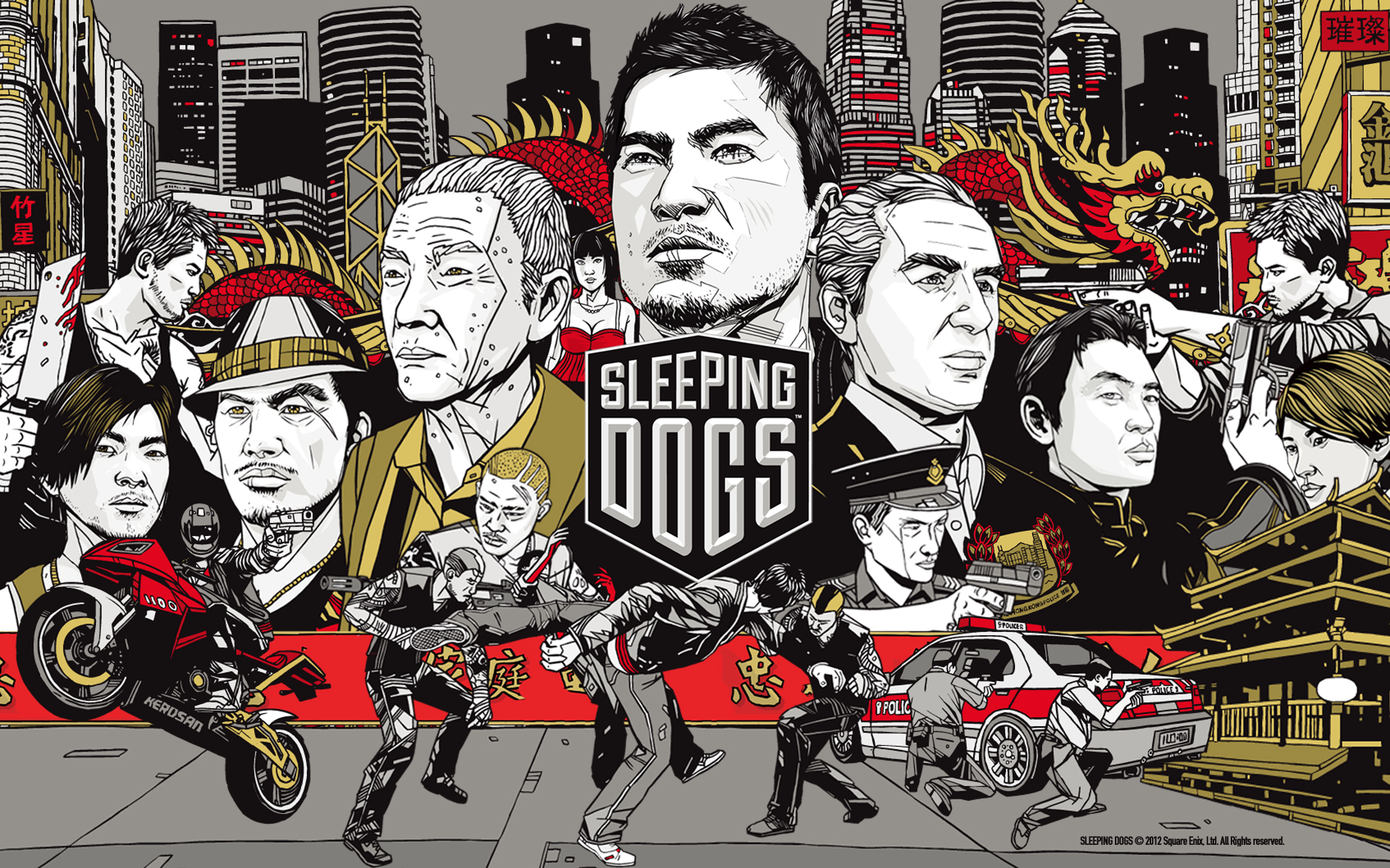 15 Sleeping Dogs HD Wallpapers Backgrounds 1920x1200