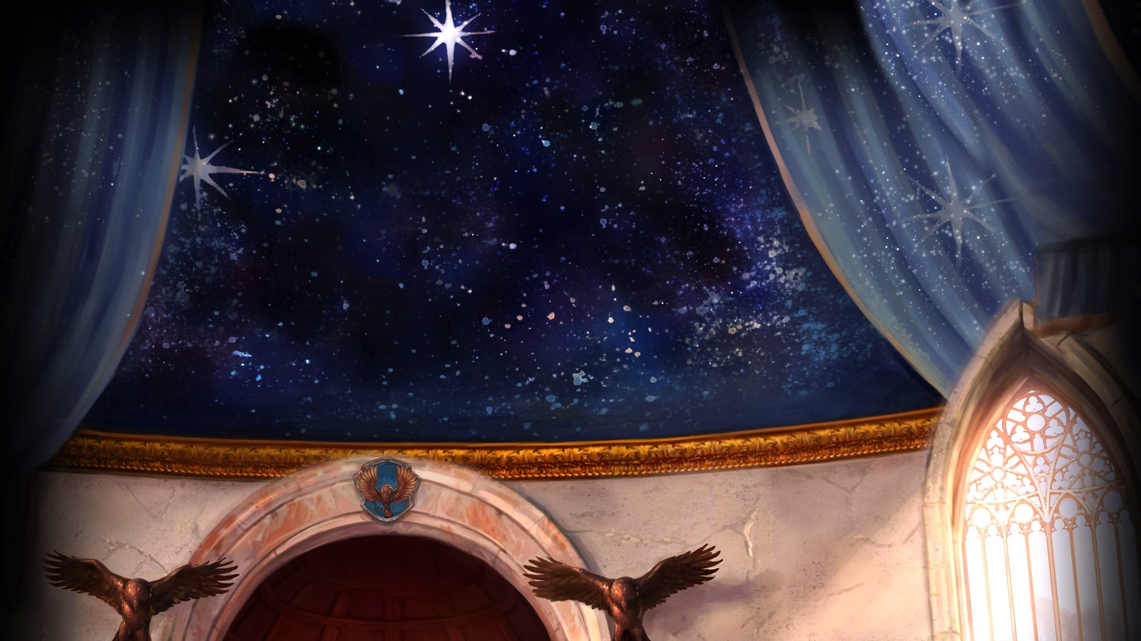 background ravenclaw common room 3 by xxtayce customization wallpaper 1600x900
