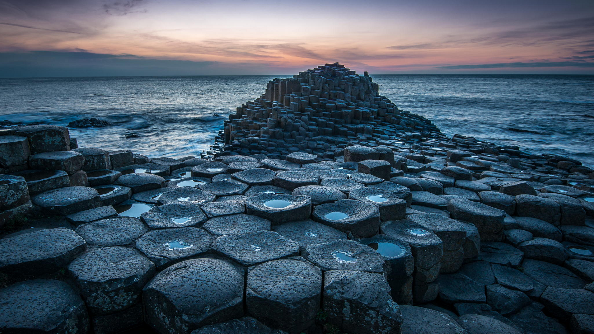 The Giants Causeway   an area of about 40000 interlocking basalt 1920x1080