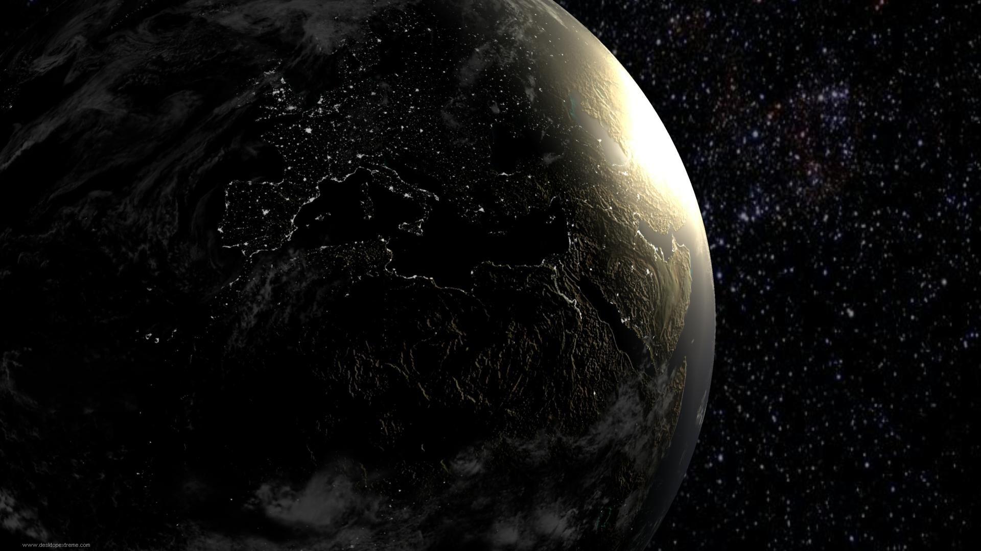 Earth at Night Desktop Wallpaper - WallpaperSafari