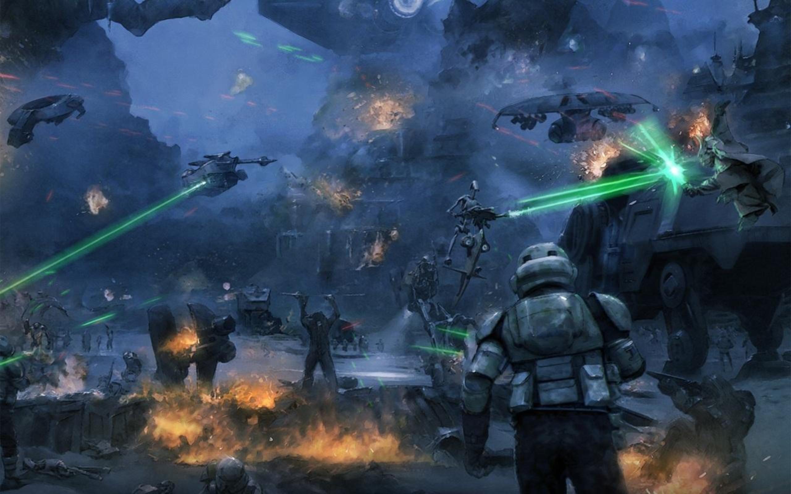 The Battle of Kashyyyk 25601600   Star Wars Wallpaper 25176070 2560x1600