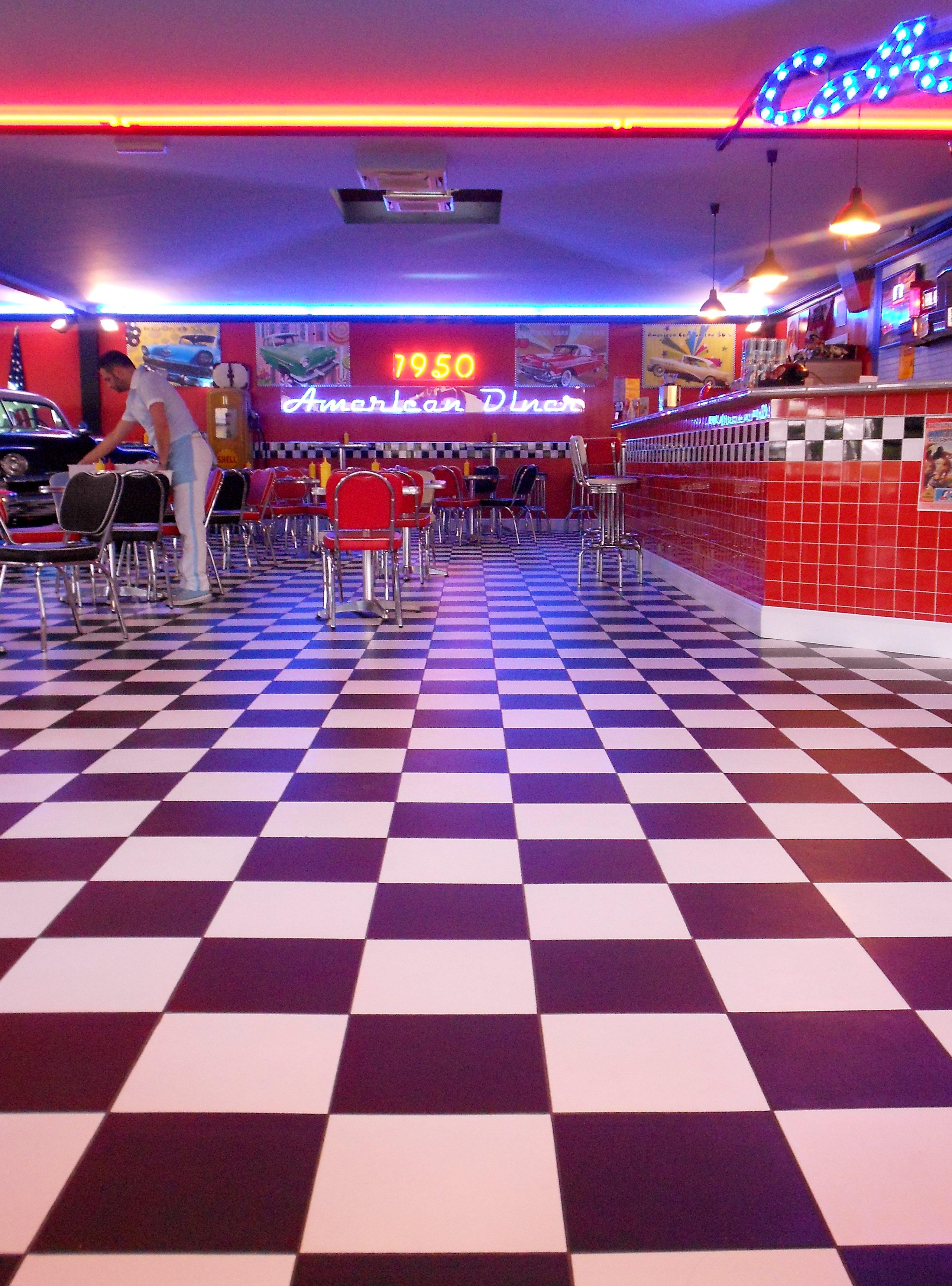 46 50s Diner Wallpaper On Wallpapersafari