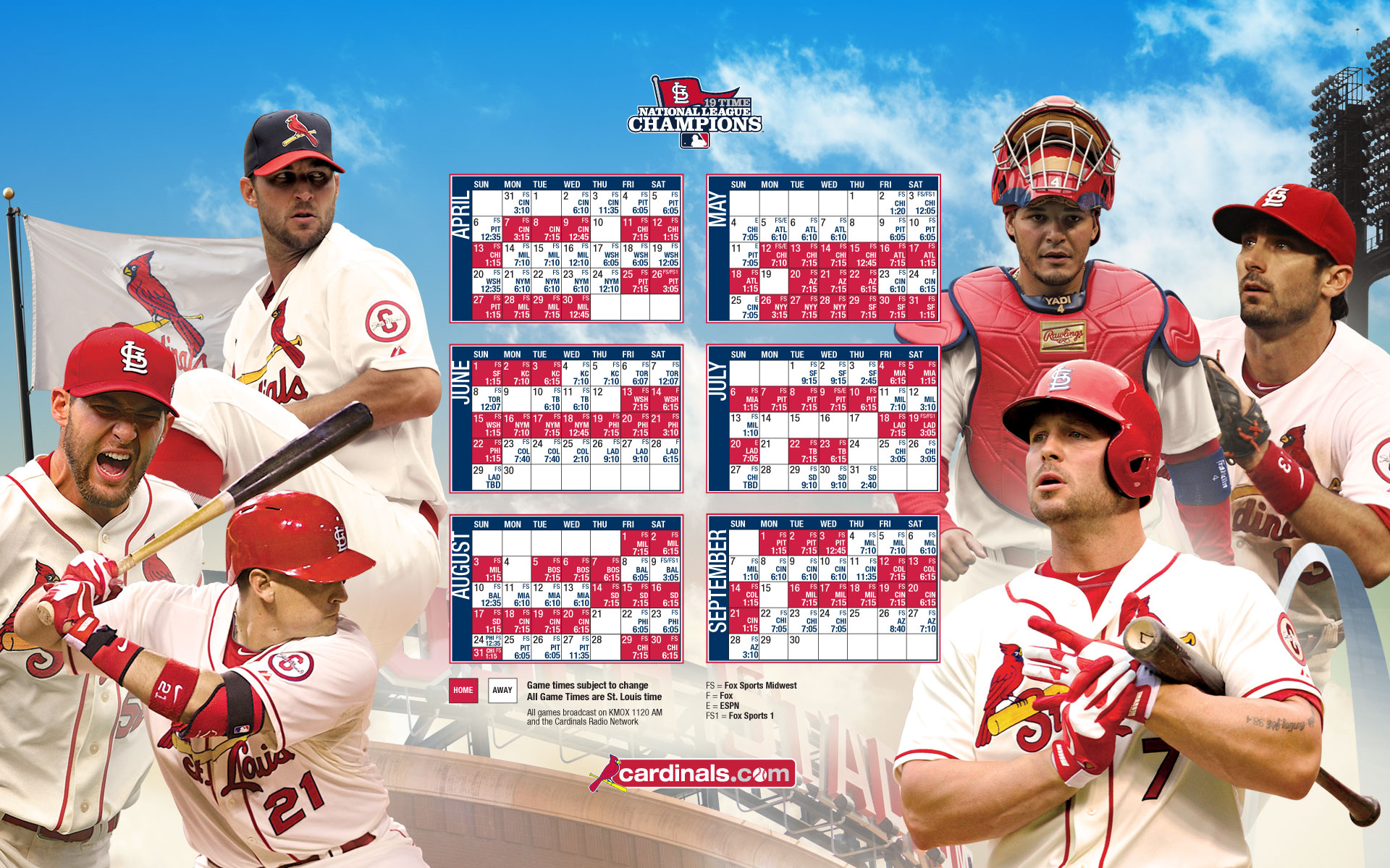 st louis cardinals 2016 schedule wallpaper - wallpapersafari