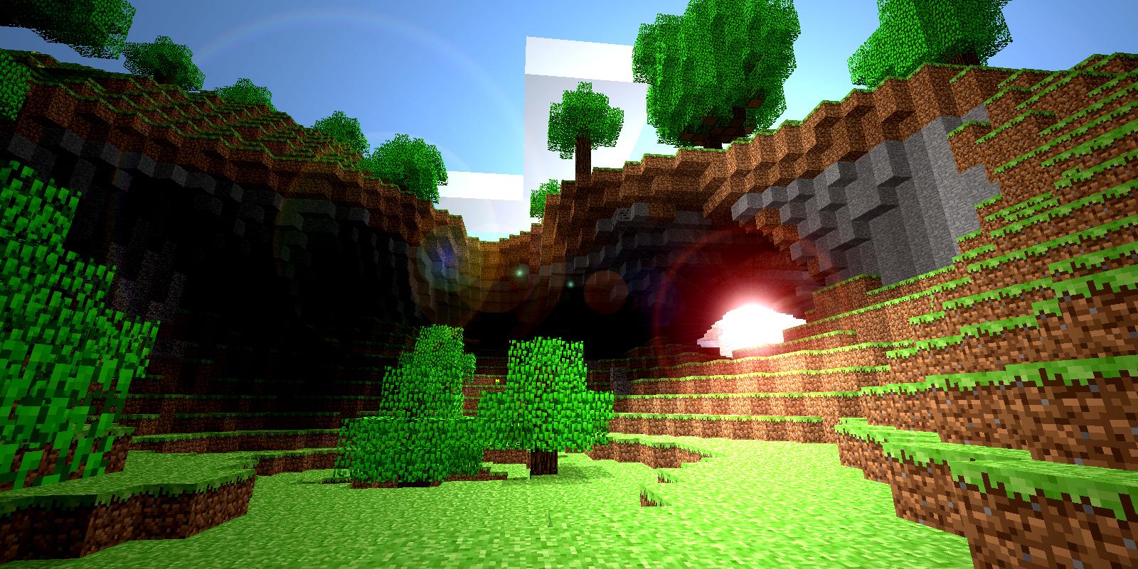 Wallpaper Minecraft 1600x801