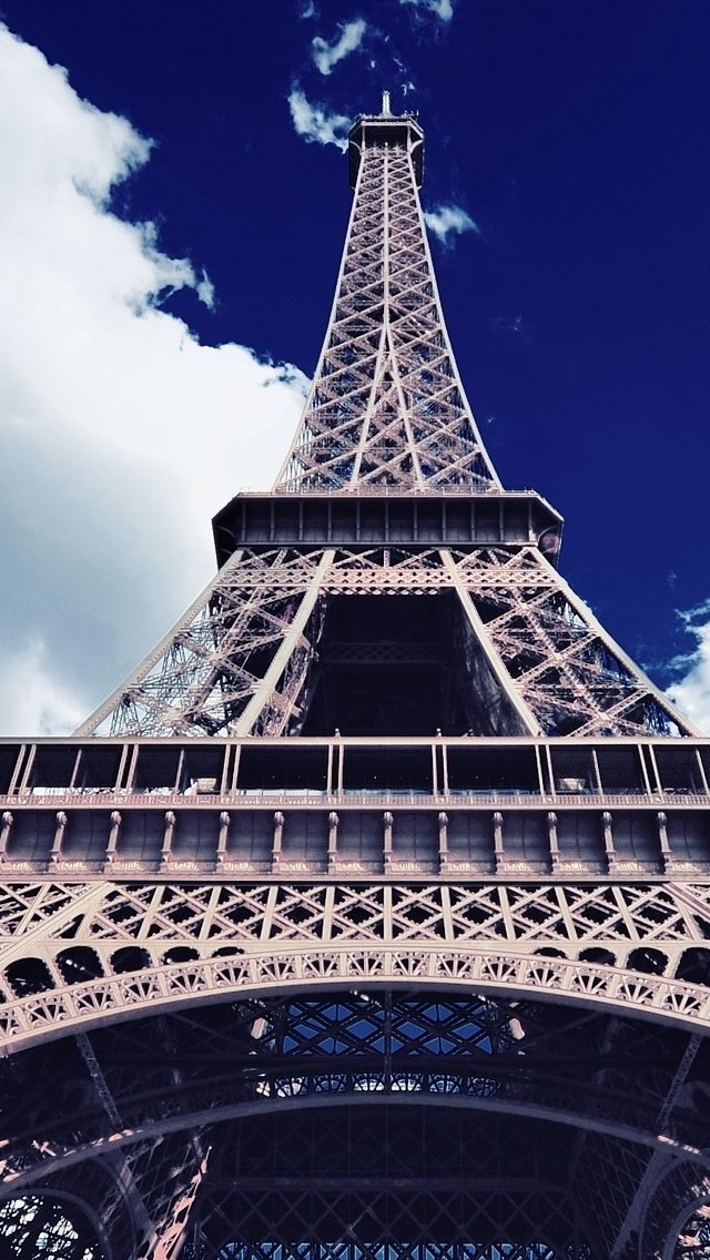 Eiffel Tower Wallpaper For Iphone Eiffel tower bottom up view 640x1136
