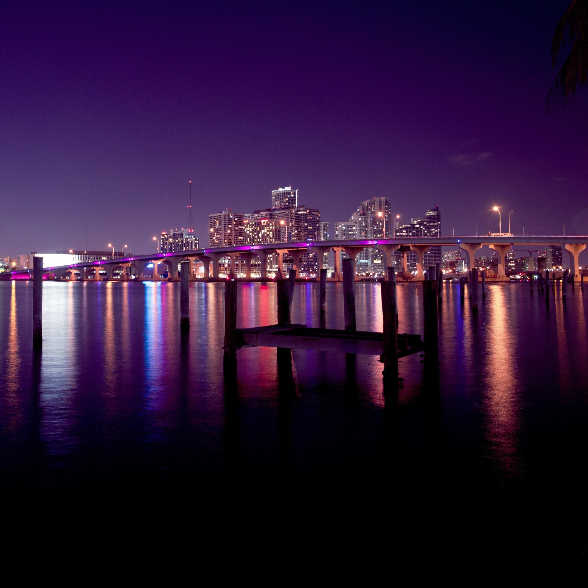 Hd Wallpapers Miami Skyline At Night 2560 X 1600 1539 Kb Jpeg HD 2048x2048