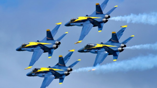 Blue Angels Four Aircrafts   Wallpapers HD Download Desktop HD 600x338