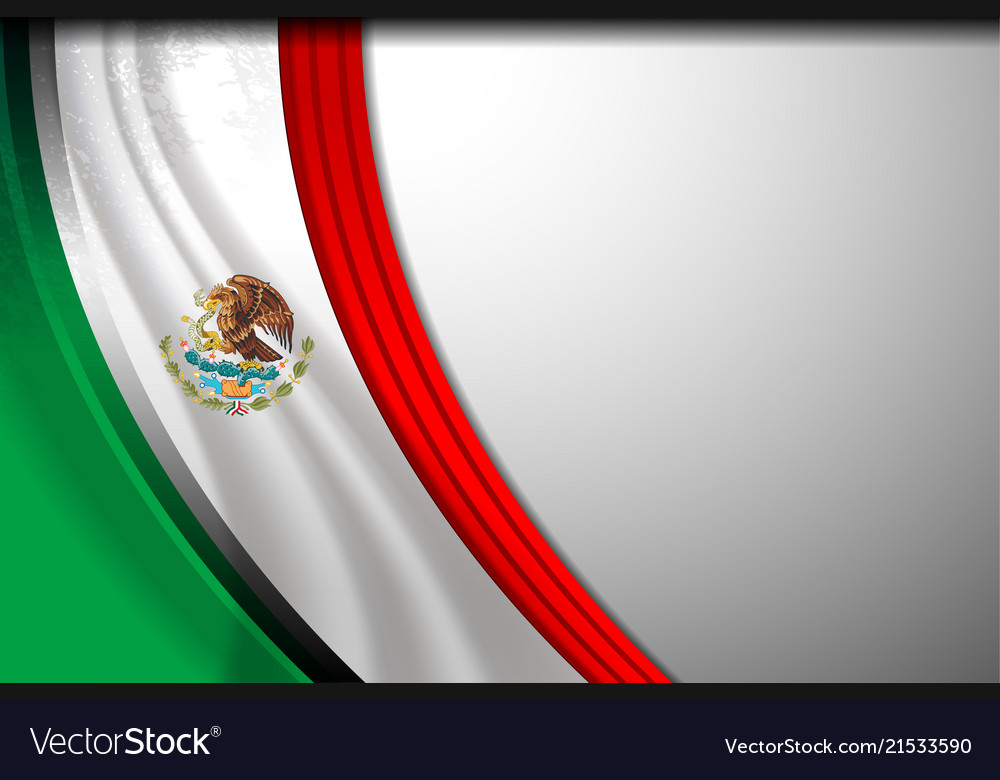 Mexico flag background Royalty Vector Image 1000x780