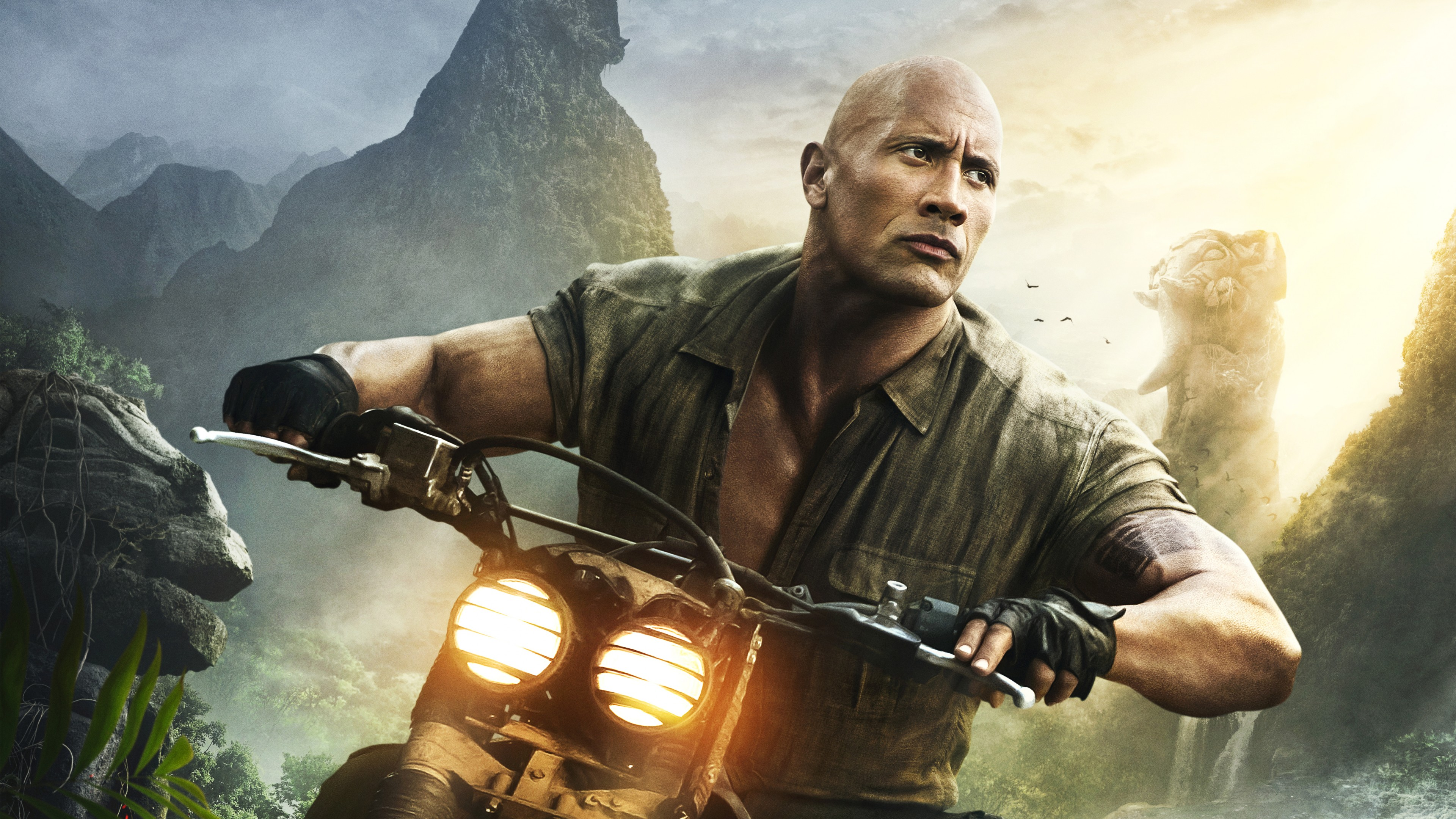 Wallpaper Jumanji Welcome to the Jungle Dwayne Johnson 4k 3840x2160