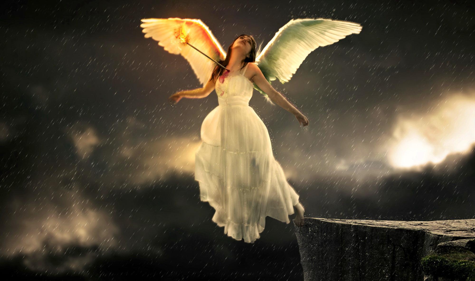 click HD Sad Angel Wallpaper image and save image as click save 2000x1183