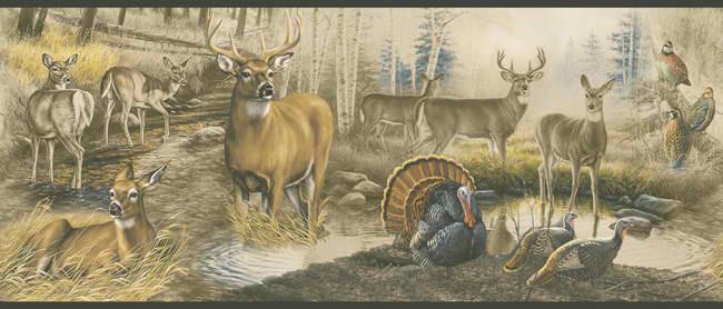 whitetail deer wallpaper border   weddingdressincom 650x278