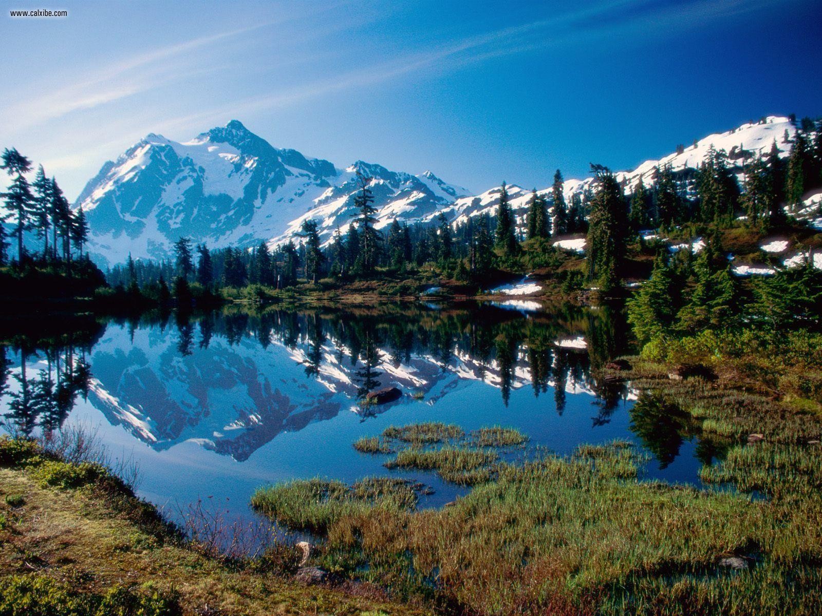 Nature Mount Shuksan North Cascades National Park Washington 1600x1200