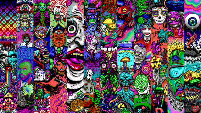 Acid trip wallpaper wallpapersafari - Trippy acid pics ...