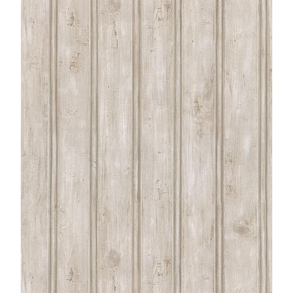 Brewster Northwoods Lodge Gray Beadboard Wallpaper Sample 145 1000x1000
