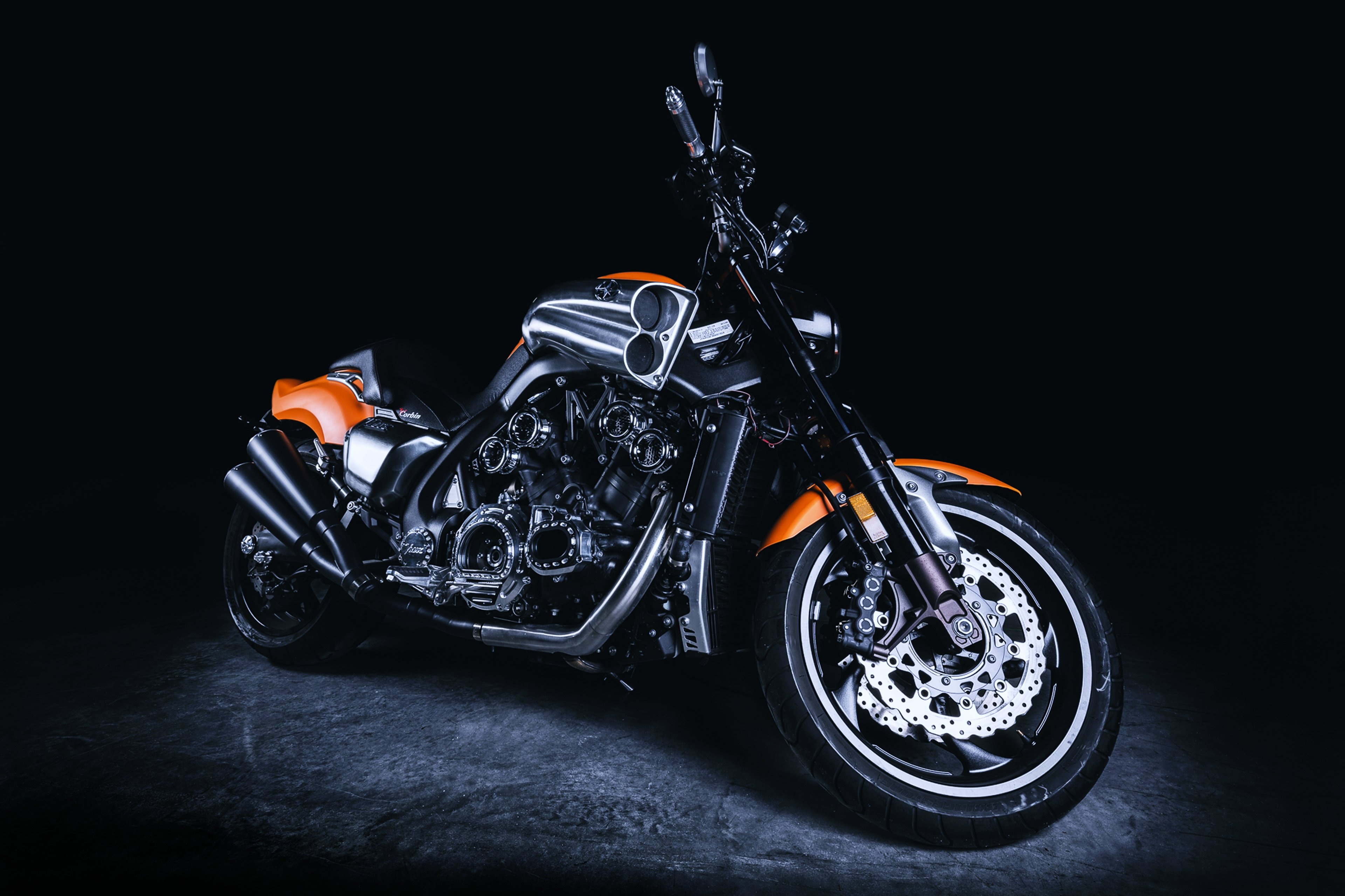 Motorcycles speed motors race bike vmax harley davidson 3840x2559