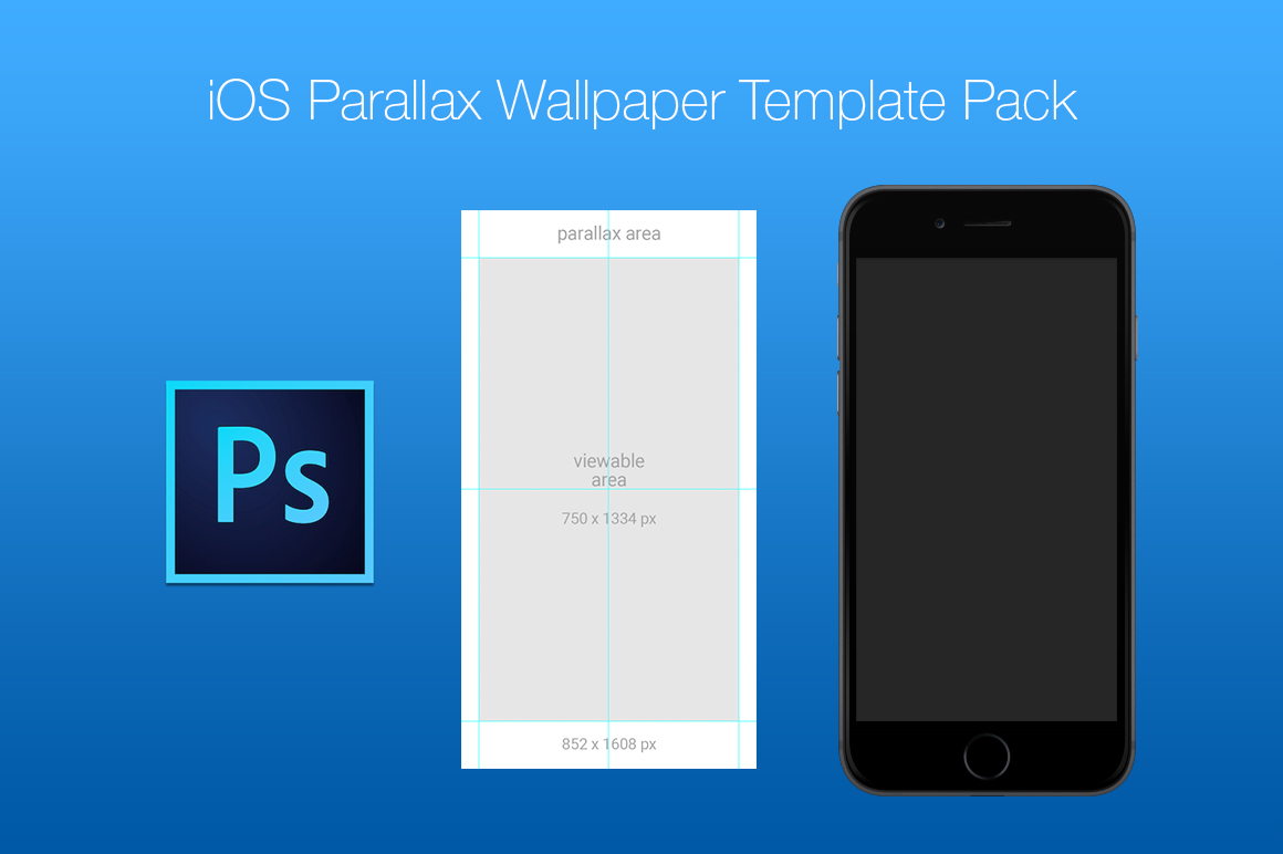 iOS Parallax Wallpaper Template Pack on Behance 1160x772