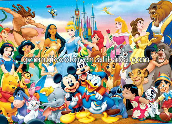 cartoon wallpaper murals View tangled kids wall murals wallpaper 580x419