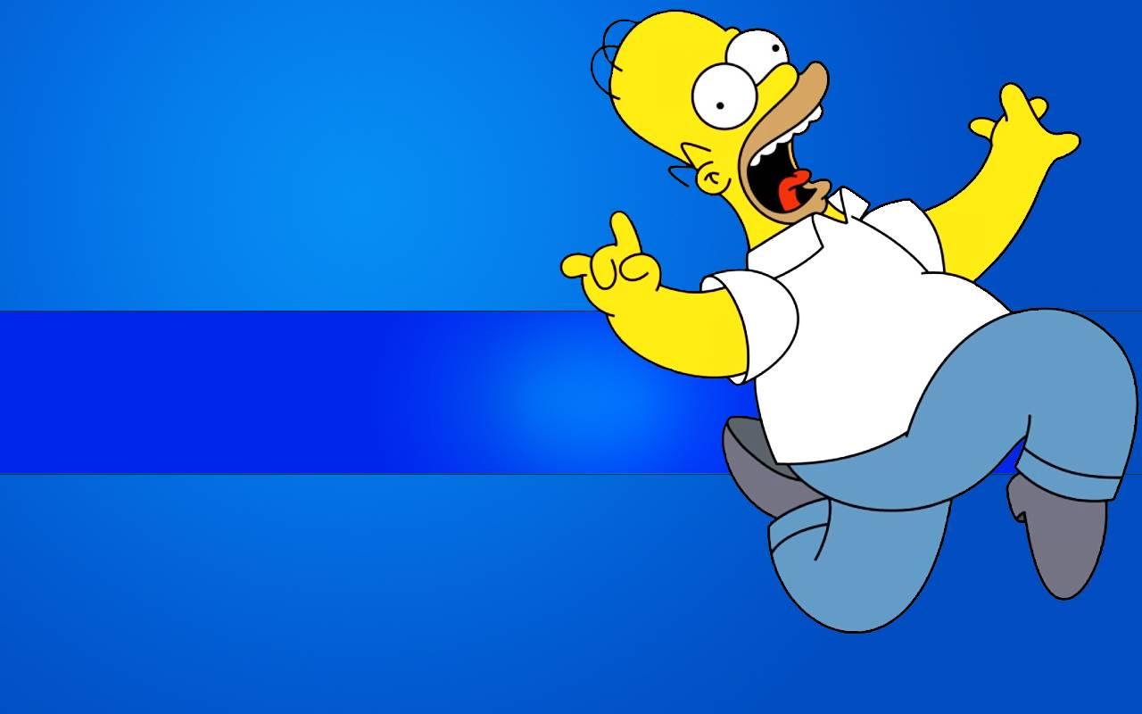 Homer Running   The Simpsons Wallpaper 1280x800