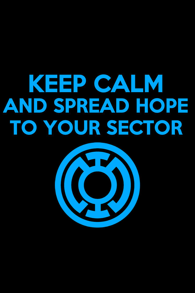 Keep Calm Blue Lantern Background by KalEl7 640x960