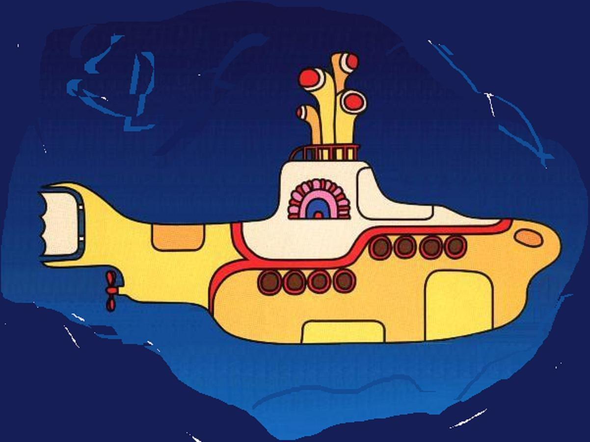 Peter Max Yellow Submarine Nail Art 1202x902