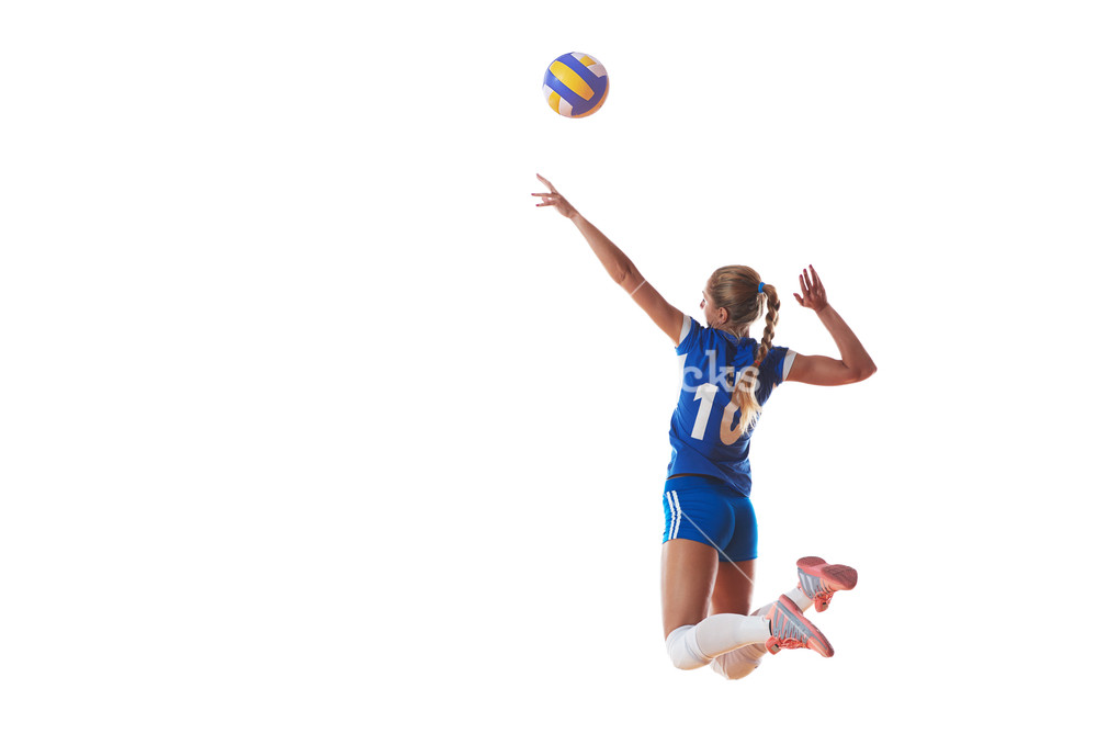 Volleyball woman isolated on white background Royalty  Stock 1000x689