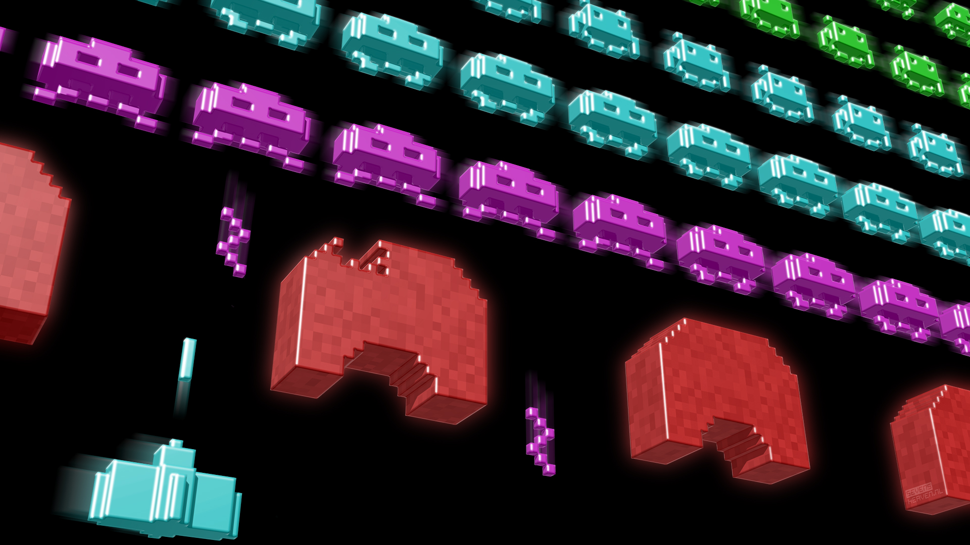 Wallpaper Roundup Retro Video Games as Awesome 3D Pixel Art 1920x1080