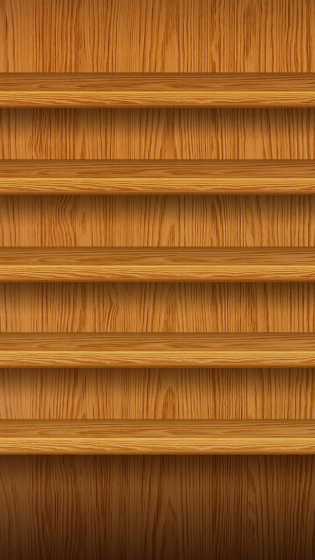 Wooden shelves 2 iPhone 5 wallpapers Top iPhone 5 Wallpaperscom 640x1136