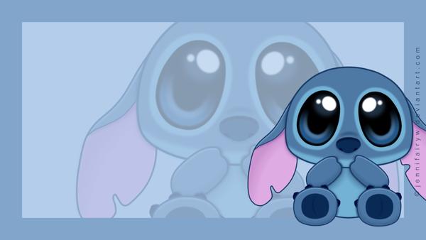Chibi Stitch Wallpaper by Jennifairyw 600x338