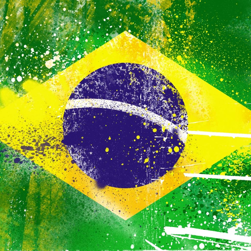 Brazil Flag iPad Wallpaper   Download iPad wallpapers 1024x1024