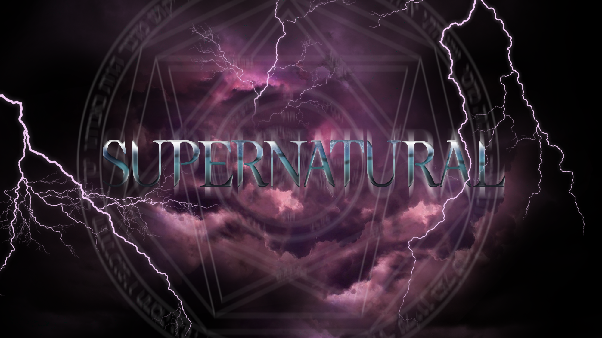 Supernatural Logo Series 3 Season 3 Storm by brandonarboleda on 2000x1125