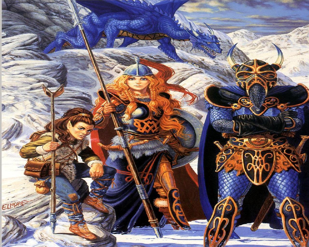 DragonlanceDragons of Winter Night wallpaper   ForWallpapercom 1280x1024