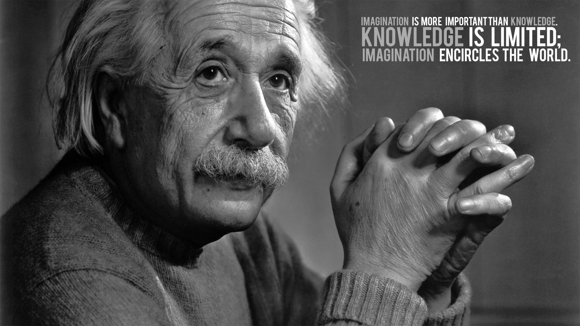 Albert Einstein Typography Design Hd Wallpapers Desktop Backgrounds 1920x1080