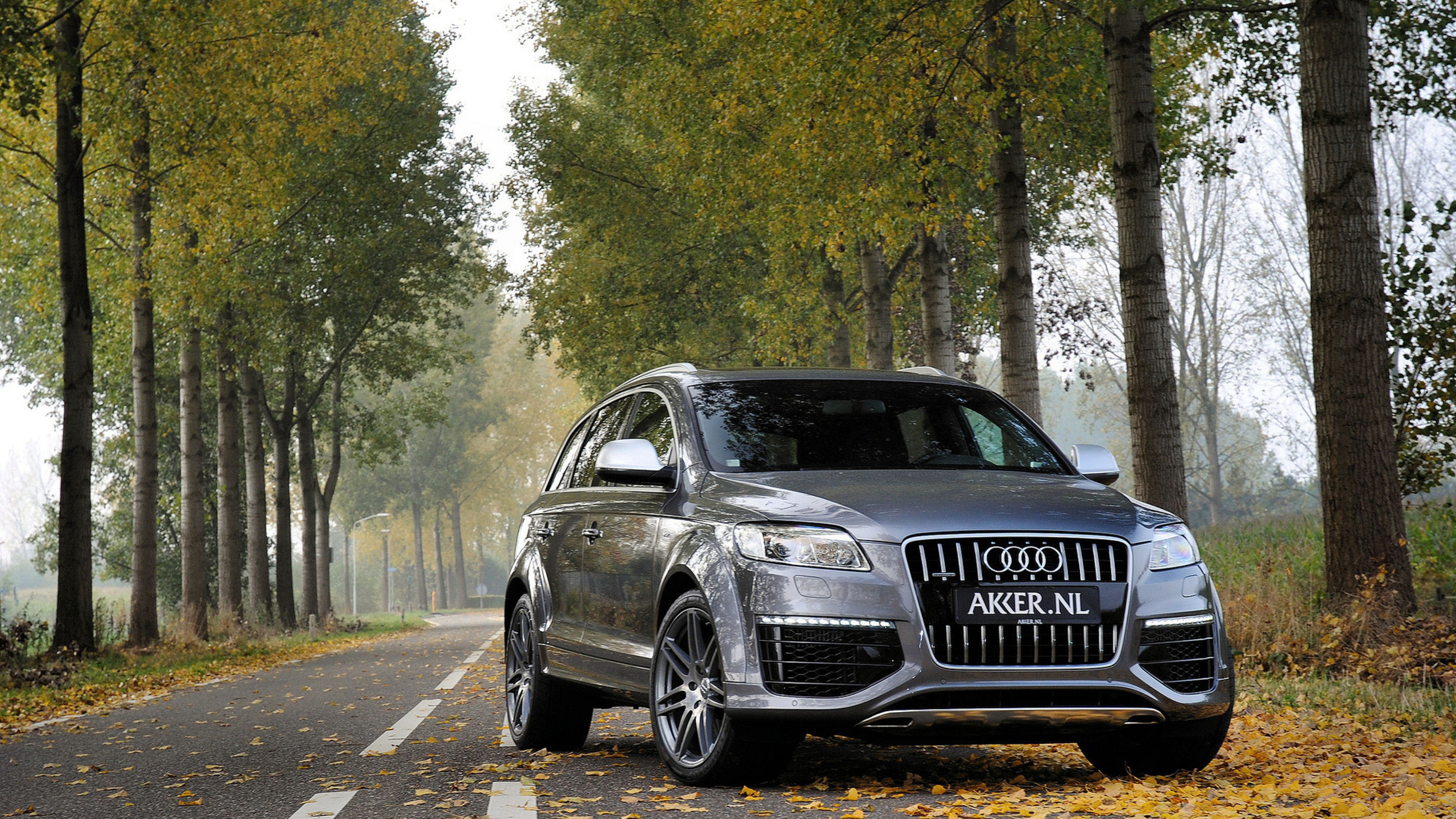 Jeep Grey Metallic Q7 Gray Audi Wallpaper Background 4K Ultra HD 3840x2160