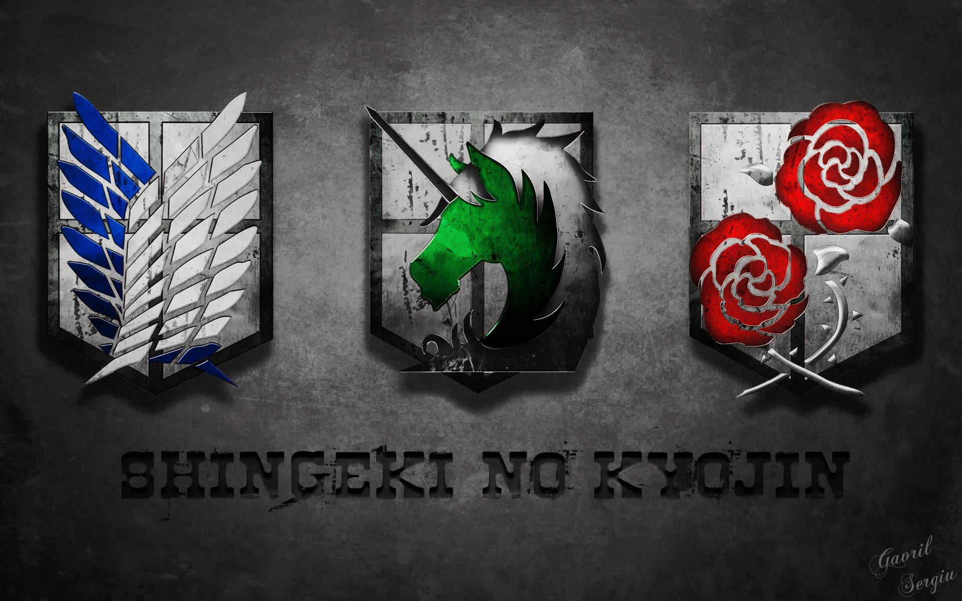 emblem flag logo shingeki no kyojin anime hd wallpaper 1920x1200 57 1920x1200