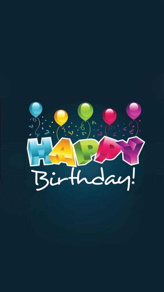 Happy Birthday Balloons Wallpaper   iPhone Wallpapers 576x1024