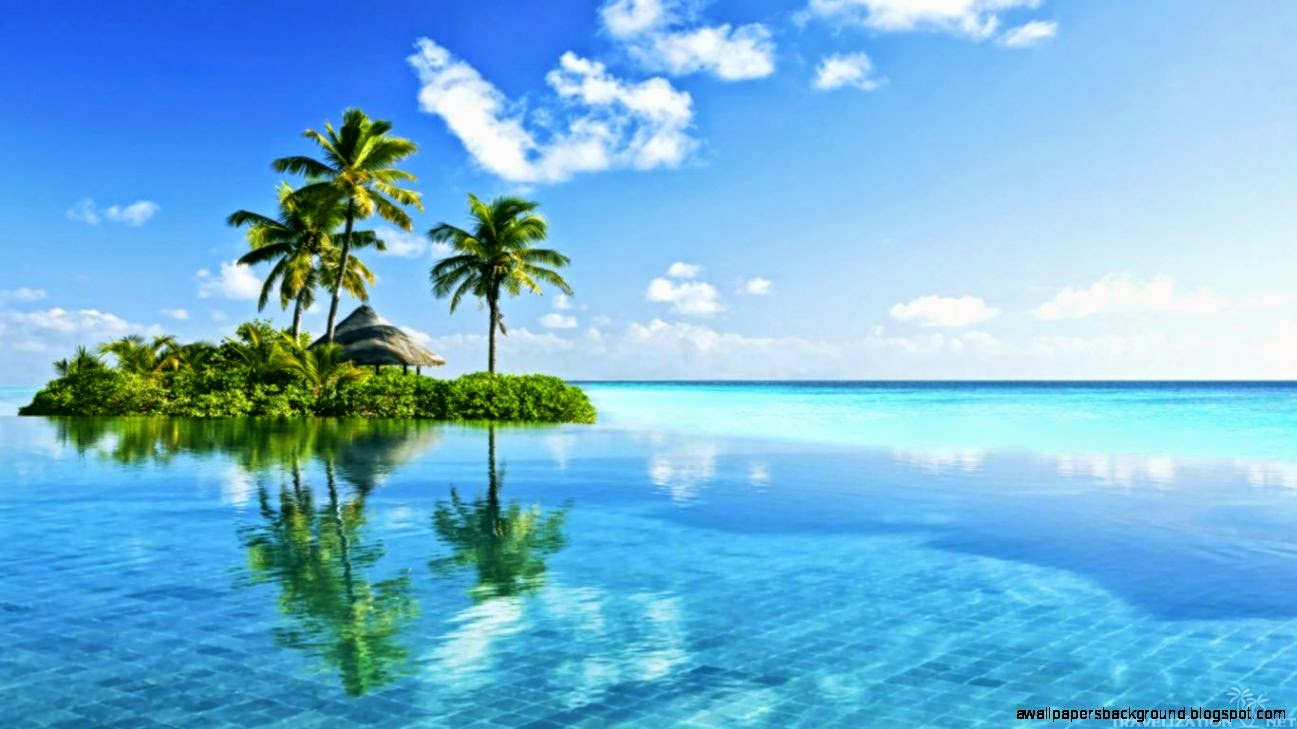 Tropical Island Paradise Wallpaper Wallpapers Background 1297x729