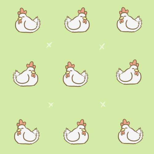 Chibi Chicken Background By Lauzi 500x500