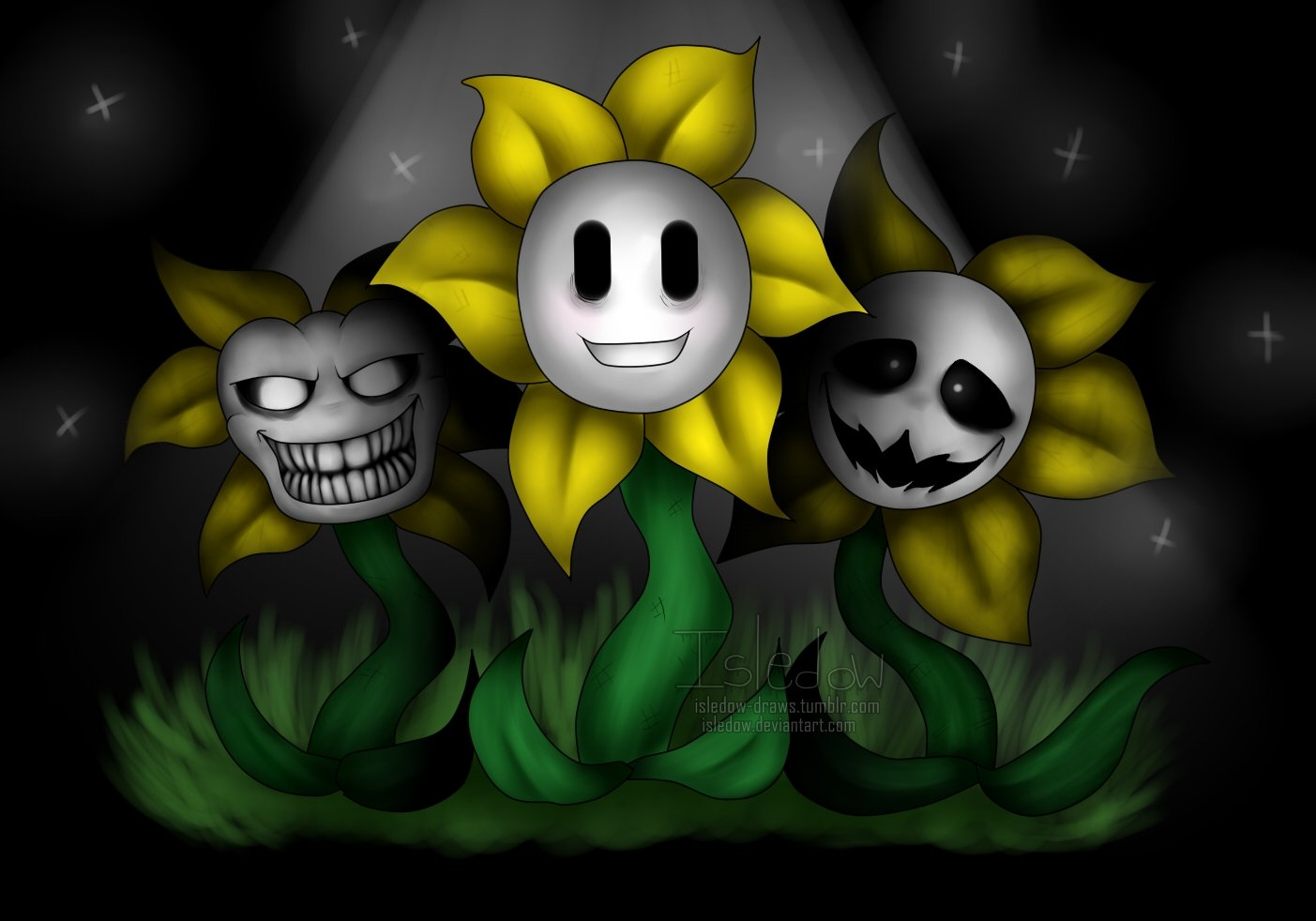 Undertale Flowey the Flower by Isledow 1403x982