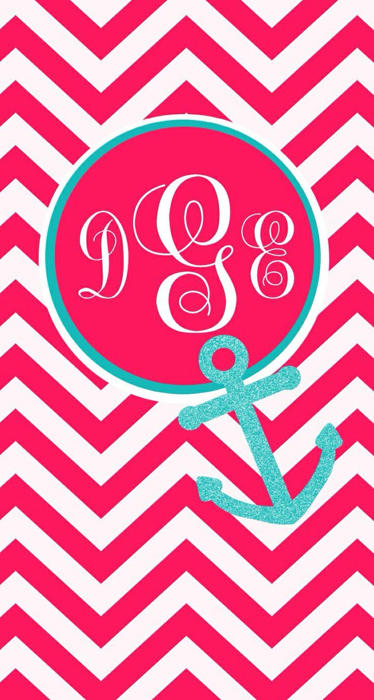 anchor monogram wallpaper wallpapersafari