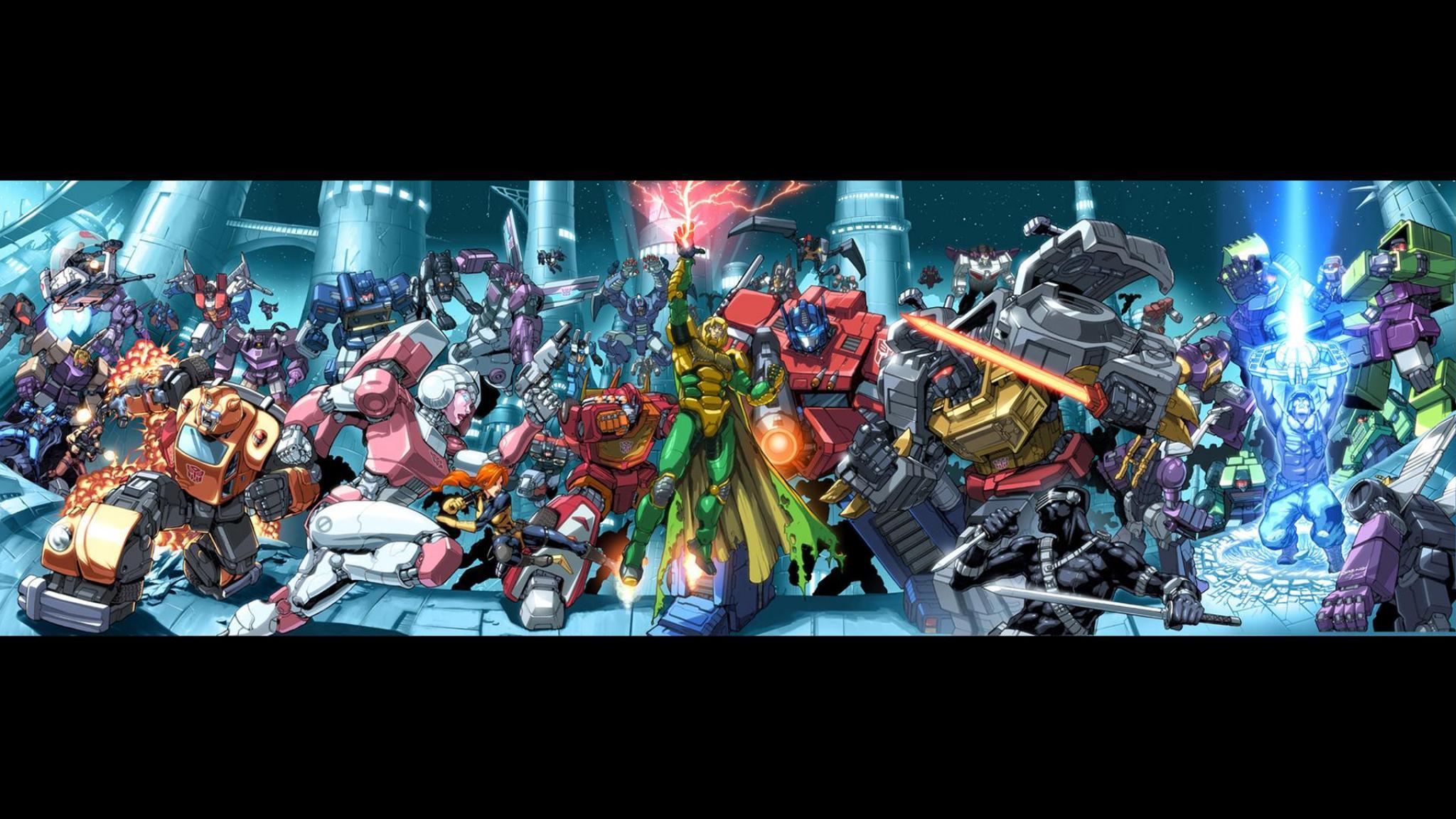 Transformers Optimus prime Gi joe Fiora Snake eyes 2048x1152