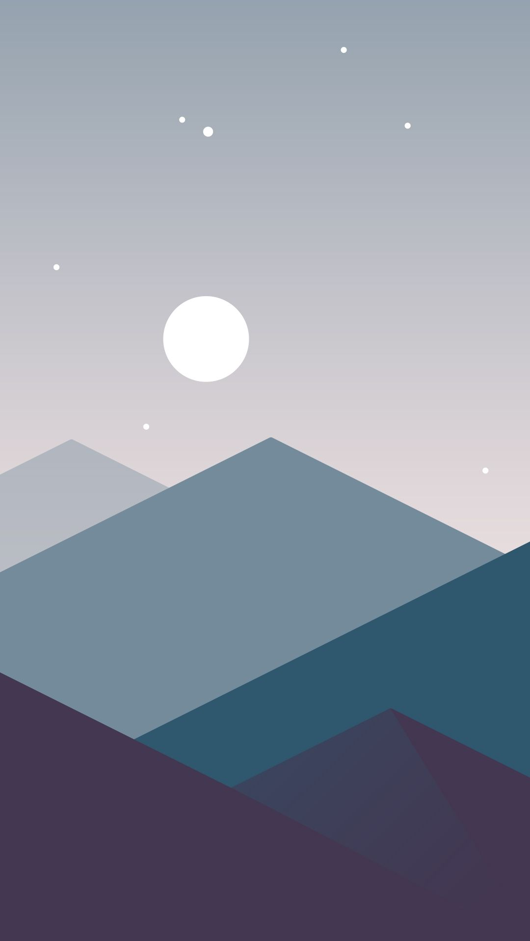 Minimalistic Mountains Night Moon iPhone Wallpaper My in 2019 1080x1919