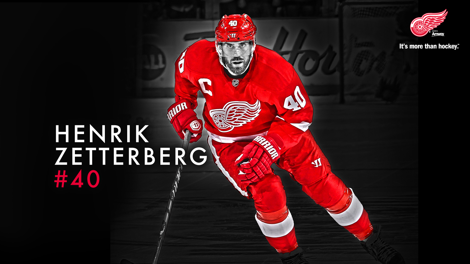 Hockey Henrik Zetterberg Detroit Red Wings wallpaper 1600x900 1600x900