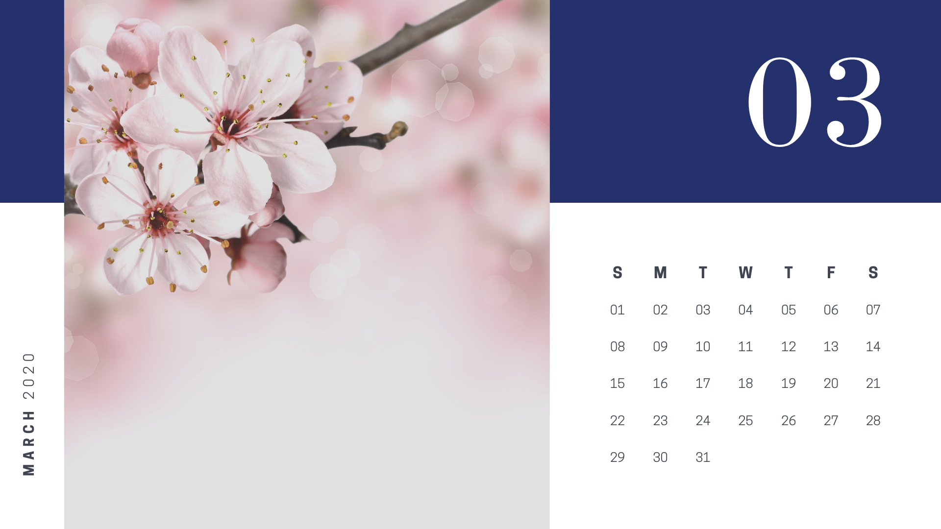 30 March 2020 Calendars You Can Download and Print 1920x1080
