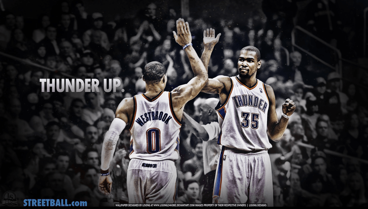 Kevin Durant And Russell Westbrook 2016 Wallpapers 1280x727