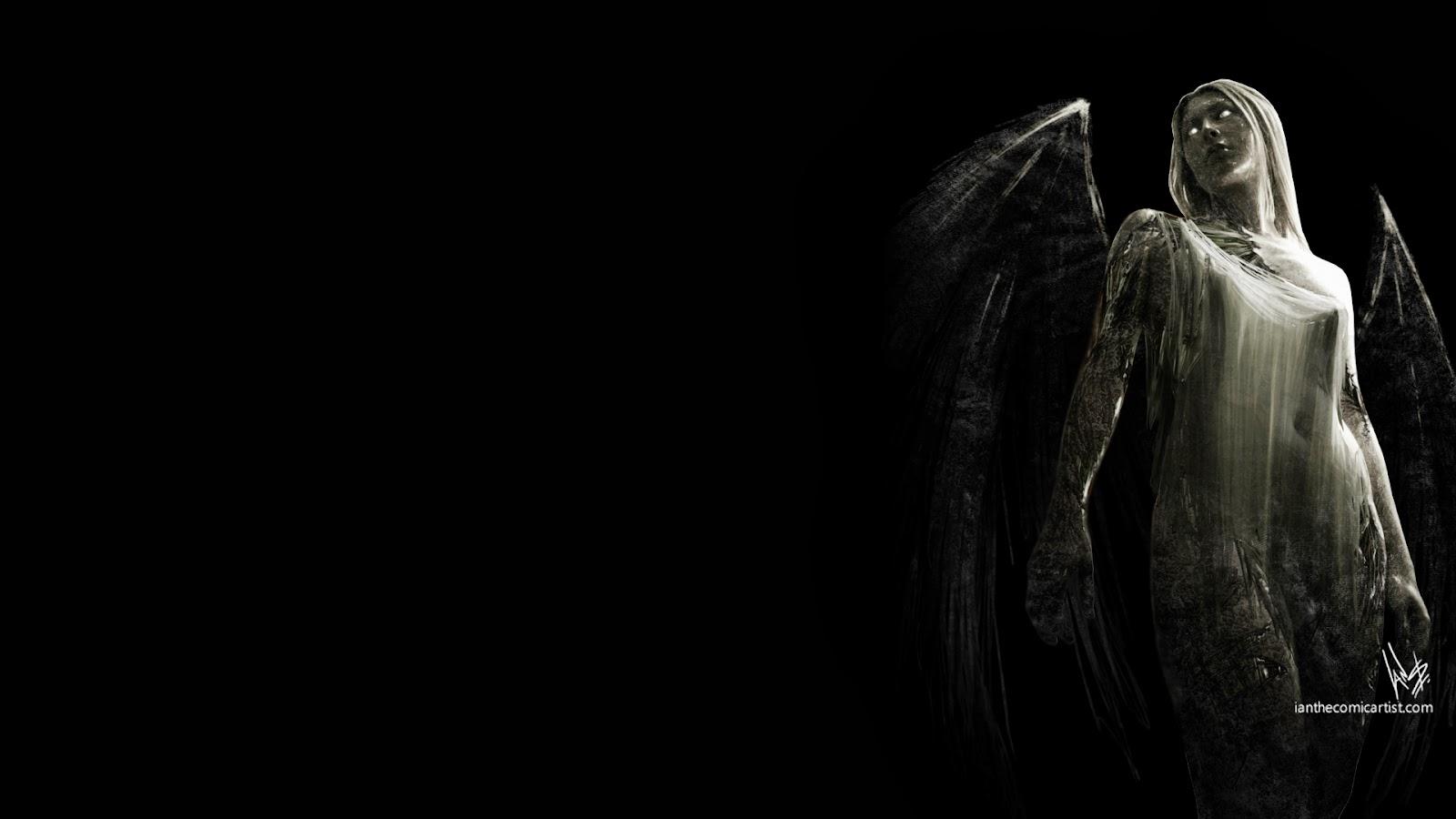 Gothic Photography of Ian Sokoliwski Fallen Angel Desktop Wallpaper 1600x900