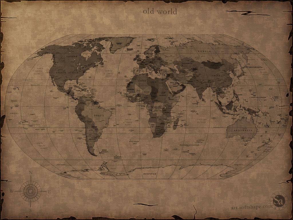 Old World Map 1024x768 pixel Popular HD Wallpaper 29338 1024x768