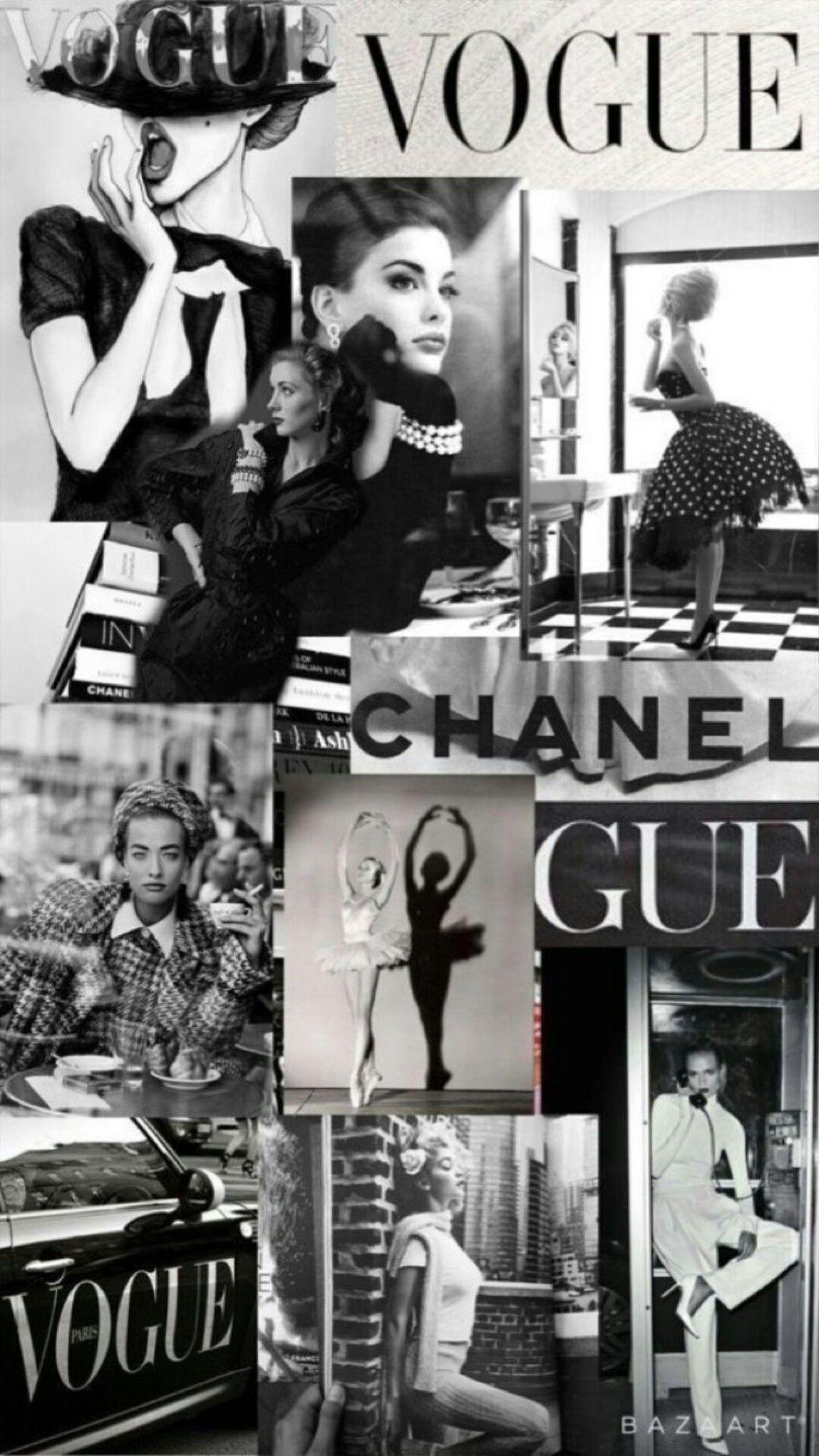 Fashion Magazine Wallpaper Vogue wallpaper Aesthetic collage 1080x1920